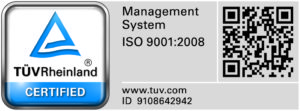 TUV Certified ISO 9001:2008